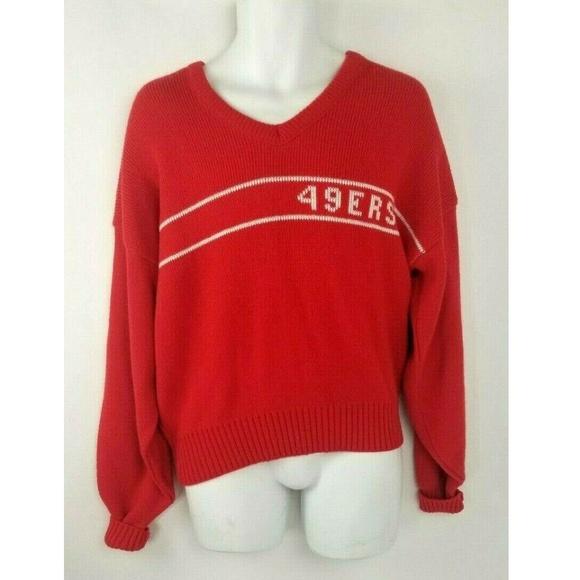 info for 2c540 5de8b Vintage Authentic SF 49ers NFL Knit Sweater size L